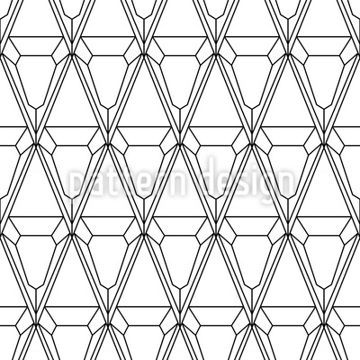 Filigranes Rautenwerk Rapportiertes Design