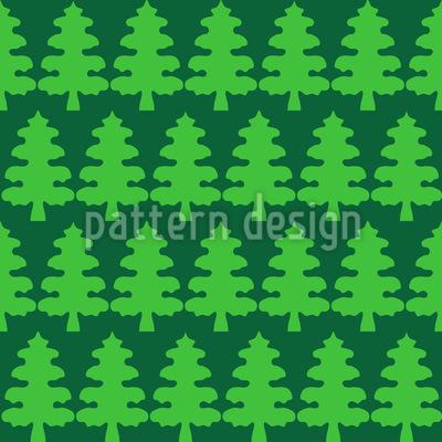 Weihnachtsbaum Wald Nahtloses Vektor Muster
