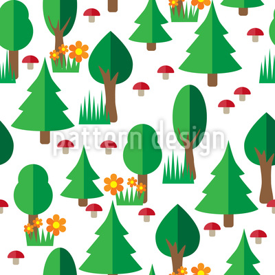 Wald Spaziergang Muster Design