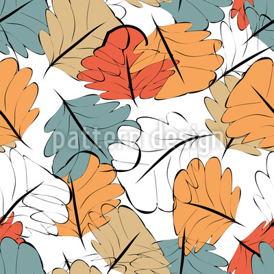 Leuchtender Herbst Nahtloses Muster