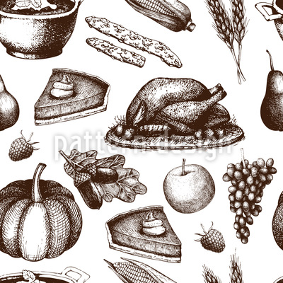 Thanksgiving Motif Vectoriel Sans Couture