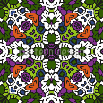 Tribal Kaleidoscope Repeat