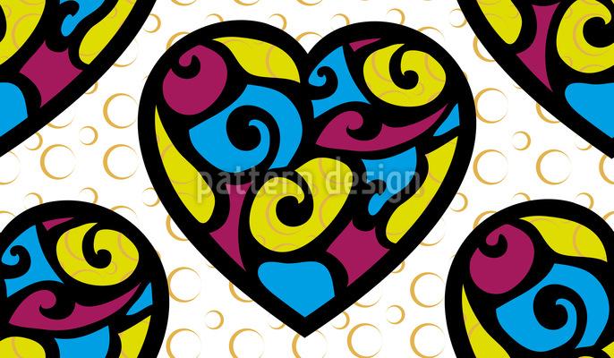 Tiffany Hearts Repeat Pattern