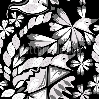 Kunstvoller Vogel Muster Design