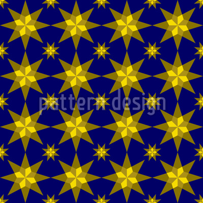 Stary Night Seamless Vector Pattern