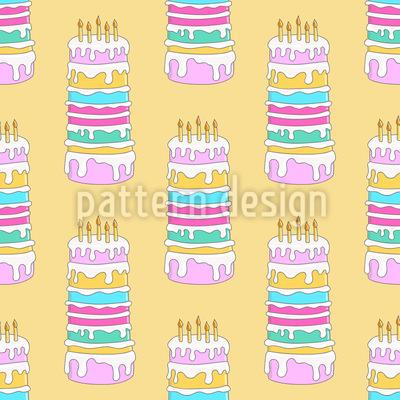 Geburtstags Kuchen Nahtloses Vektormuster