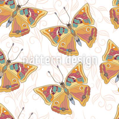 Zarte Schmetterlinge Rapportiertes Design