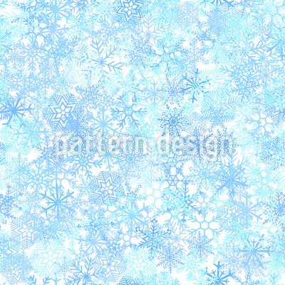 Eiskristall Schichten Nahtloses Vektormuster
