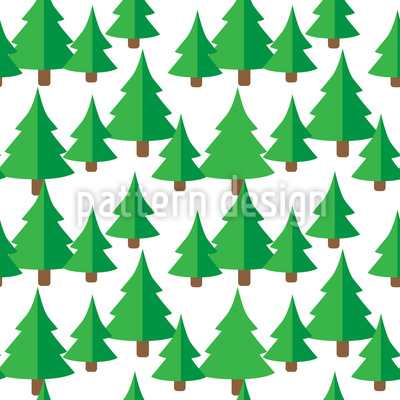 Fir Forest Vector Ornament