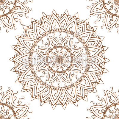 Lace Mandala Seamless Vector Pattern Design