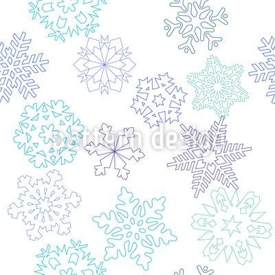 Scherenschnitt Schneeflocke Nahtloses Vektor Muster