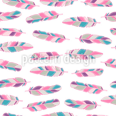 Soft Feathers Vector Ornament