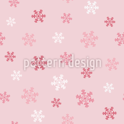 Winter Snowflake Love Seamless Vector Pattern