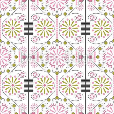 Koreanische Blume Vektor Muster