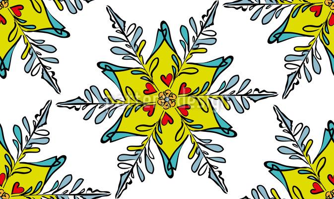 Festliche Schneeflocke Rapportiertes Design