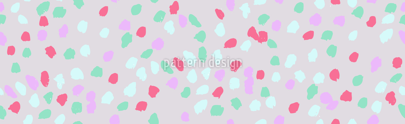 Painted Dots Vector Ornament