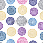 Doodle Circles Seamless Vector Pattern Design