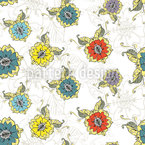 Oriental Flower Dream Seamless Vector Pattern Design