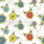 Orientalischer Blumentraum Nahtloses Vektormuster