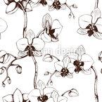 Orchideen Blüte Nahtloses Vektor Muster