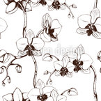 Orchideen Blüte Nahtloses Vektormuster