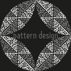 Uma Coisa Redonda Design de padrão vetorial sem costura