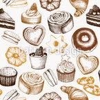 Süsse Bäckerei Vektor Design