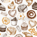 Sweet Bakery Seamless Vector Pattern Design