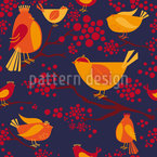 Bird Meeting Seamless Vector Pattern Design