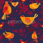 Vogel Versammlung Muster Design