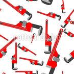 Chaves de tubulação Design de padrão vetorial sem costura