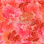 Mit Rosen Bedeckt Nahtloses Vektormuster