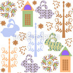 Downtown Bunnies Seamless Vector Pattern Design