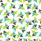 Leaf Dance Repeating Pattern