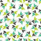 Danza delle foglie disegni vettoriali senza cuciture