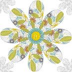 Blume In Einer Blume Nahtloses Vektormuster