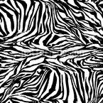 Zebra Black And White Seamless Vector Pattern Design