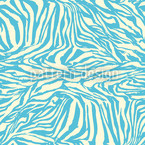Zebra Aqua Seamless Vector Pattern Design