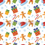 Christmas Candy Seamless Vector Pattern Design