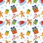 Weihnachts Süssigkeiten Nahtloses Vektormuster