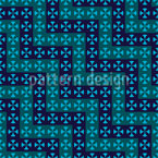 Crossing Waves Seamless Vector Pattern Design