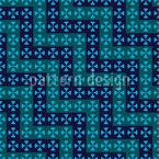 Kreuzende Wellen Nahtloses Vektor Muster
