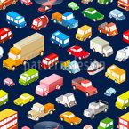 Städtischer Verkehr Nahtloses Vektormuster