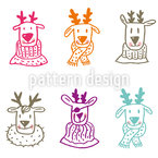 Rudolf And Friends Seamless Vector Pattern Design