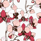 Exotic Orchid Seamless Vector Pattern Design