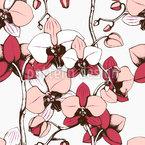 Exotische Orchidee Nahtloses Vektormuster