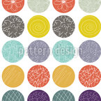 Dot Mixture Seamless Vector Pattern Design
