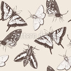 Butterflies And Moths Seamless Vector Pattern Design