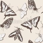 Schmetterlinge und Falter Nahtloses Vektormuster