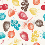 Mixed Berries Seamless Vector Pattern Design